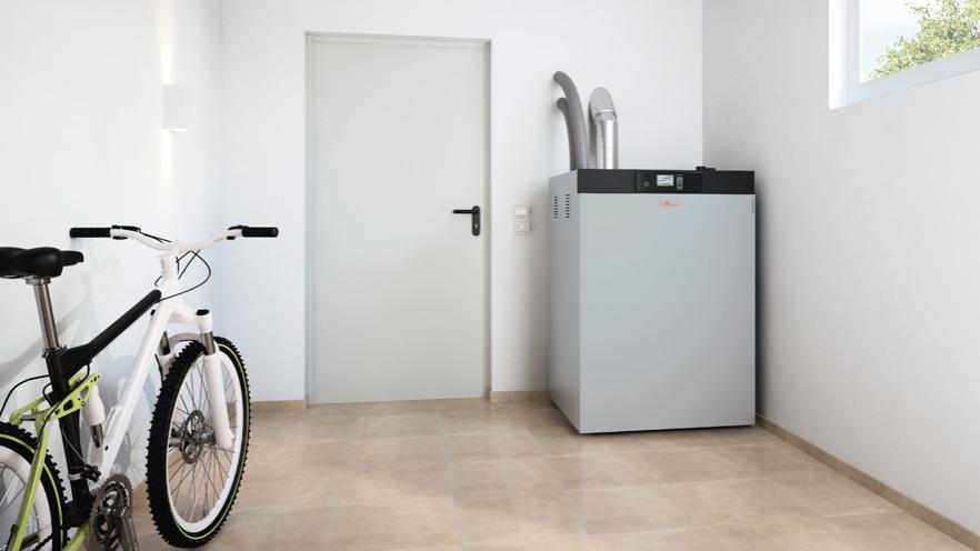 chaudi re pellets viessmann confortable agr able. Black Bedroom Furniture Sets. Home Design Ideas